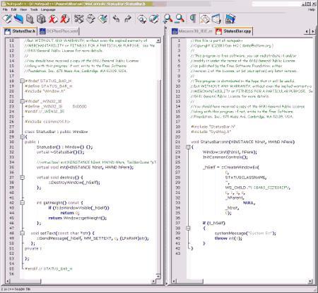 Текстовые редакторы: Notepad++ v.5.4.1